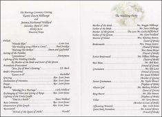Programs For A Wedding  Spanish Wedding Program ExamplesCatholic