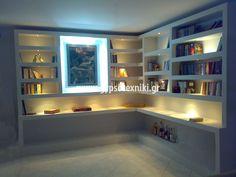 Βιβλιοθήκη σε οικία στην Παλλήνη Bookcase, Projects To Try, Shelves, Inspiration, Plasterboard, Home Decor, Ideas, Biblical Inspiration, Shelving