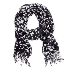 "Sole Society ""Spotted Fringe Scarf"", $24.95"