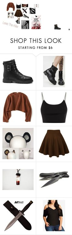 """""""Lexie The Killer/ my #1 OC"""" by slendyschild4113 on Polyvore featuring Dr. Martens, Uniqlo, Alexander Wang, KAOS, City Chic and plus size clothing"""