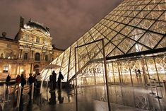 The Louvre Museum in Paris by night - From October to March: access to the permanent collections is free for all visitors on the first Sunday of each month. From April to September: no free admission on the first Sunday of each month.