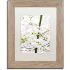 Trademark Fine Art 'White Cherry Blossom Tree 5' Canvas Art by Ariane Moshayedi, White Matte, Birch Frame, Size: 11 x 14, Multicolor