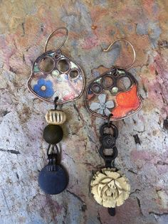 Hey, I found this really awesome Etsy listing at https://www.etsy.com/listing/122057319/le-jardin-artisan-assemblage-earrings