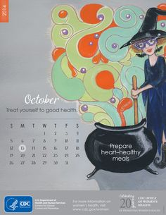 Happy Halloween! Treat yourself to good health, and make your Halloween festivities fun, safe, and healthy. Download this healthy living calendar as a reminder to prepare heart- healthy meals this Halloween and all year long.