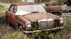 Morgan County Old Car Mercedes //Dh Mercedes Benz Classes, Mercedes Benz Cars, Mercedes W114, M Benz, Rat Look, Abandoned Cars, Abandoned Vehicles, Daimler Benz, Classic Mercedes