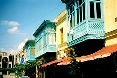 blue balconies - Tbilisi, Republic of Georgia