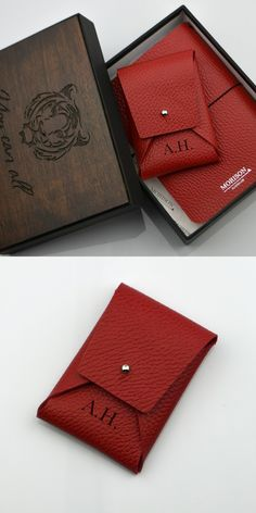 Red notebook Womens red set Women journal Minimalist wallet Red card case Personalized gift Birthday gift Gift for mom journal and card case Leather Working, Real Leather, Leather Diary, Personalized Birthday Gifts, Minimalist Wallet, Custom Leather, Travelers Notebook, Card Case, Lady In Red