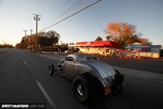 """""""Double The Turbos, Half The SheetmetalA 1200hp Street-Driven Demon"""" via SpeedhuntersPhotography by Larry Chen.More rat rod here."""