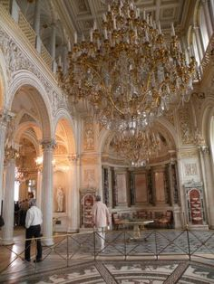 One of the many rooms inside the Winter Palace in St. Petersburg, Russia. Stunning. Makes Buckingham Palace look like a huge downgrade.