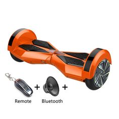 8 inch Smart Self-balancing Scooter with Built-in Bluetooth Speaker/ Led Side Light / ORANGE