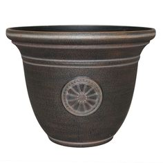 Garden Treasures x Rust Plastic Planter - Patio Planters, Planter Pots, Plastic Planter, Large Pots, Lowes Home Improvements, Garden Furniture, Rust, Traditional, Yard