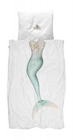 SNURK Mermaid Bettwäsche-Set Meerjungfrau 135x200 cm - 100% Perkal-Baumwolle #romodo.de
