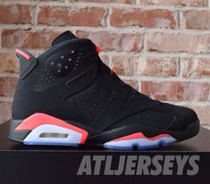 5bf1975f19bd 2014 Nike Air Jordan 6 VI Retro Black Infrared 384664-023 Size 11  AirJordan
