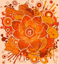 Swadhisthana Chakra:  2° Chakra: Color: Naranja. Elemento correspondiente: Agua. Función sensorial: Gusto. Símbolo: Loto de seis pétalos. Principio básico: Propagación creativa del ser. Correspondencias corporales: Cavidad pélvica, órganos reproductores, riñones, vejiga; todos los humores; como: sangre, linfa, jugos digestivos, esperma.Glándulas correspondientes: Órganos sexuales: ovarios, próstata, testículos. La función de los órganos sexuales es la formación de las características…
