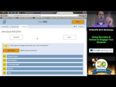 NYSCATE 2015 Workshop: Using Socrative and Kahoot to Engage Your Students by Rob Zdrojewski