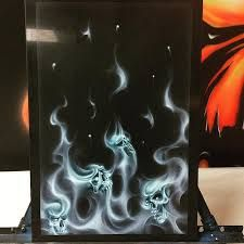 Image result for airbrush skulls and flames