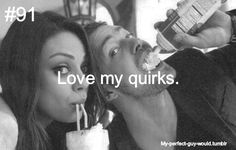 Single and looking for a man who… will love my quirks. Via My-Perfect-Guy-Would on Tumblr.