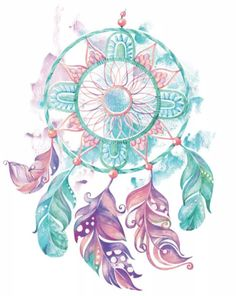 Dream catcher, feathers and beads. Feathers on a watercolor background. Hand painted illustration for your design Watercolor Background, Watercolor Art, Cute Wallpapers, Wallpaper Backgrounds, Dream Catcher Drawing, Dreamcatcher Wallpaper, Image Digital, Tumbler Designs, Illustration