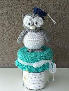 Graduation Owl crochet / geslaagd uiltje gehaakt