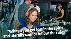 Ellie Kemper at DJ School