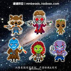 Guardians of the Galaxy perler sprites!