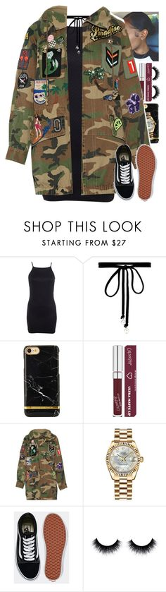 """2/25"" by mcmlxxi ❤ liked on Polyvore featuring Miss Selfridge, Joomi Lim, Marc Jacobs, Rolex and Vans"