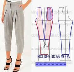 trousers pattern - trousers pattern - trousers pattern for men - trousers pattern female - trousers pattern sewing - trousers pattern man - trousers pattern free - trousers pattern drafting - trousers pattern high waisted Sewing Pants, Sewing Clothes, Dress Sewing Patterns, Clothing Patterns, Fashion Sewing, Diy Fashion, Diy Pantalon, Costura Fashion, Diy Vetement