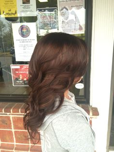 Chestnut color. Chocolate brown hair. Joico color. Hair by Callie McCarter at Hair Studio of Ruston.