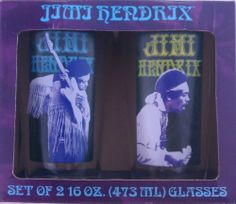 Jimi Hendrix Set of two 16oz. Pint Glasses by Vandor LLC.. $30.49. Two Jimi Hendrix Pint Glasses. Perfect for Jimi fans!. Jimi fans will love this set of two Jimi Hendrix 16oz Pint glasses.  Authentic Hendrix. Hand Wash Only Jimi Hendrix, Drinkware, Home Kitchens, Kitchen Dining, Fans, Glasses, Eyewear, Tumbler, Kitchen Dining Living