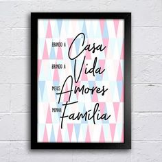 Poster Brindo a casa - comprar online Holidays And Events, My Room, Diy And Crafts, Sweet Home, Geek Stuff, Lettering, Wallpaper, Frame, Poster