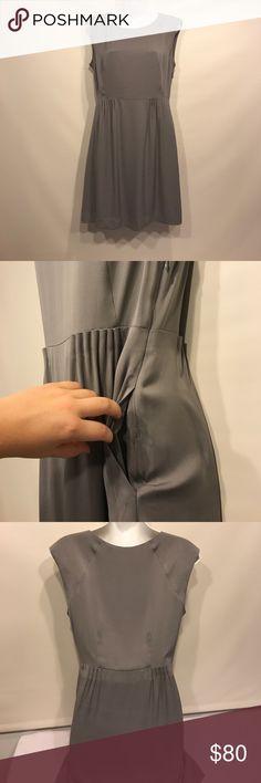 Theory Shyann/Sheen Silk Sheath Dress Theory shyann/sheen silk/spandex Dress in a gray color. Size 6. Great condition. Theory Dresses Midi