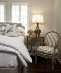 I love the chair and the linens and pretty much everything.