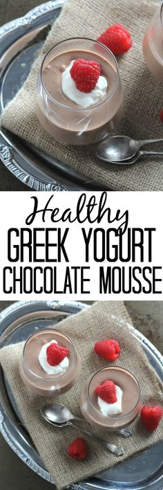 A delicious, light and healthier Chocolate Mousse recipe made with greek yogurt. Great for kids, this makes a really simple but very tasty summer dessert!