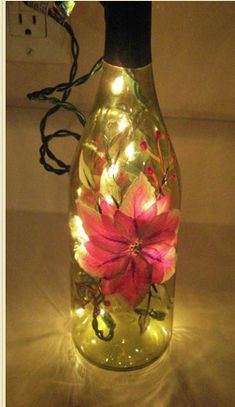 Lighten up the mood with an old wine bottle - #DIY Wine Bottle #Crafts