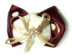 Red Wedding Retro Bow Ideas  #Red #Hair #Bow