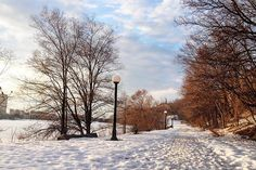 Snow on winter path  #MyOttawa #Ottawa @ottawatourism
