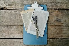 Clipboard Photo and Ephemera Display | Give an old clipboard a beautiful new look in minutes.  This tutorial will show you how | www.knickoftime.net
