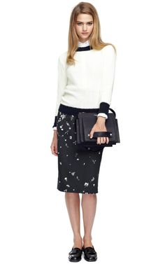 Ribbed Cotton Crewneck Pullover by Thom Browne Now Available on Moda Operandi