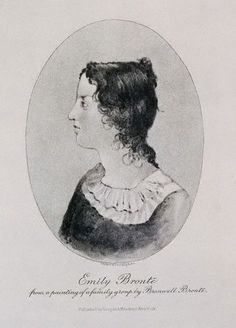 Engraving of Emily Bronte