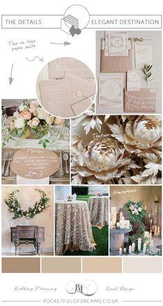 Bridal Inspiration Board #80 ~ Elegant Neutral Spring Shades | Love My Dress® UK Wedding Blog