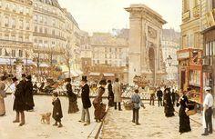 Jean Béraud Le Boulevard St. Denis, Paris - Jean BERAUD - Wikipédia, a szabad enciklopédia