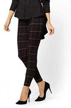 ca9f244fc98 7th Avenue Pant - Pull-On - Slim Leg - Signature - Plaid