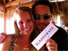 Courtney Slade and Eric Highland at the Slades Wake launch!