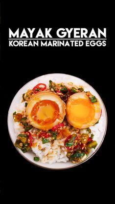 Mayak Eggs Korean Marinated Eggs Recipe & Video – Seonkyoung Longest – Famous Last Words Banchan Recipe, Bulgogi Recipe, Tofu Recipes, Curry Recipes, Asian Recipes, Cooking Recipes, Asian Desserts, Chow Fun Recipe, Vegetarian Food