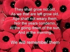Lest we forget. Remembrance Day. We will remember them #remember #remembrance