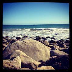 Rocky Malibu beach