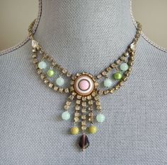 Dangerously Deco Choker  Vintage Rhinestone necklace by TwoTickets, $89.00