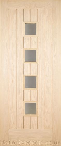 The Sarena has four satin double glazed units set into a vertical TG boarding effect panel. The glazing bead is a raised square moulding. External Oak Doors, Door Sets, Tongue And Groove, Moulding, Joinery, Bead, Satin, The Unit, Traditional