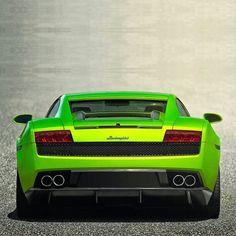 Bright Green Lamborghini Gallardo!
