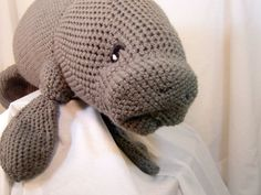 Manatee Amigurumi Stuffed Toy Plush Crochet Pattern by voxmortuum